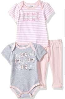 *6M* Brand New DKNY 3 Piece Set For Baby Girl