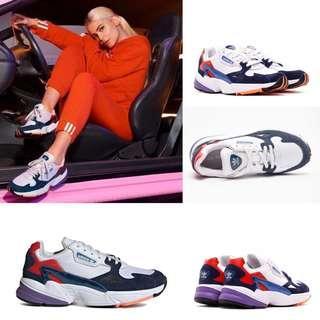 ADIDAS ORIGINALS FALCON W 機能 復古 白藍紅 老爹鞋 經典 女