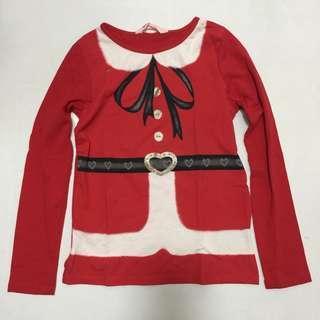 Santa long sleeve top