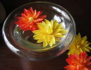 #1212  Floating Lotus with water droplets (24pcs for $6)