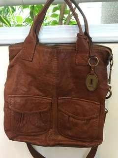 FOSSIL Leather Sling n Hand Carry Bag