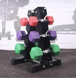 Dumbbell dumbbells set with stand