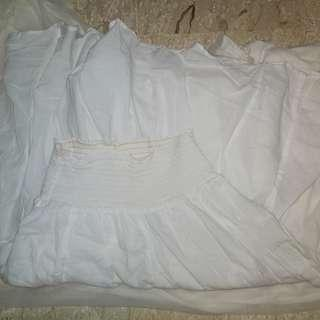 Old Navy White Layered Skirt