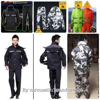 Raincoat DOUBLE Layer Motorcycle Safety Riding Raincoat Jacket with Pant rain coat rain suit unisex