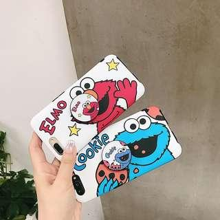 (PO)Sesame Street Soft Case with Holder for iPhone Users😊