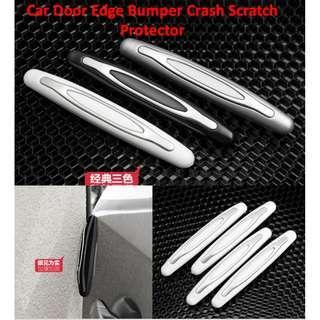 4pcs Car Door Edge Bumper Crash Scratch Protector Anti-collision Protector Guard Strip