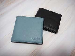 Coach 淺湖水藍色 男裝銀包 men wallet