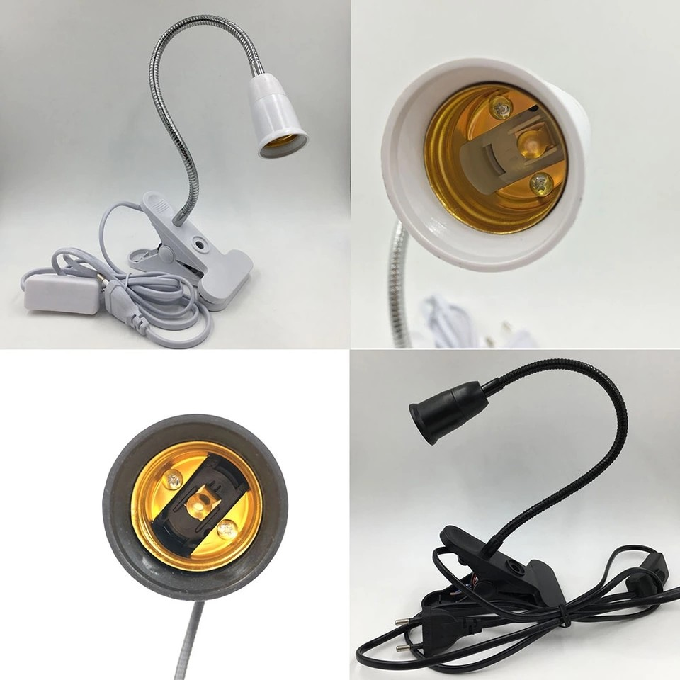 Degrees On Eu Led 360 Light Lamp Plug Clip Desk Flexible E27 Simple For Switch Use Base Off As With Grow Holder jL4cA5R3q