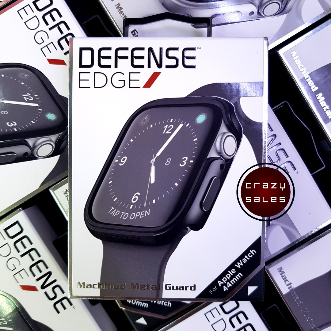 the best attitude 3a850 f038c 44MM Apple Watch 4 X-Doria Defense Edge Case Cover Black