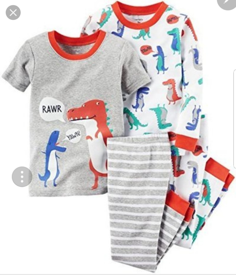 7733c97ac 6M  Brand New Carter s 4-Piece Dinosaur Snug Fit Cotton PJs