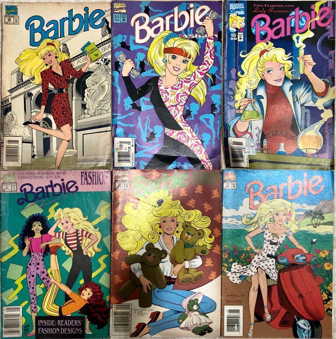 80's Marvel Barbie Vintage Comics Magazine Set, Books