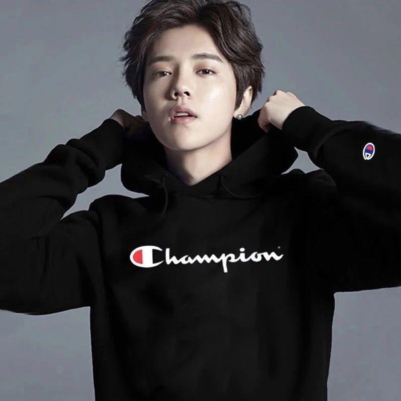 ( 附實拍) Champion 連帽情侶衛衣