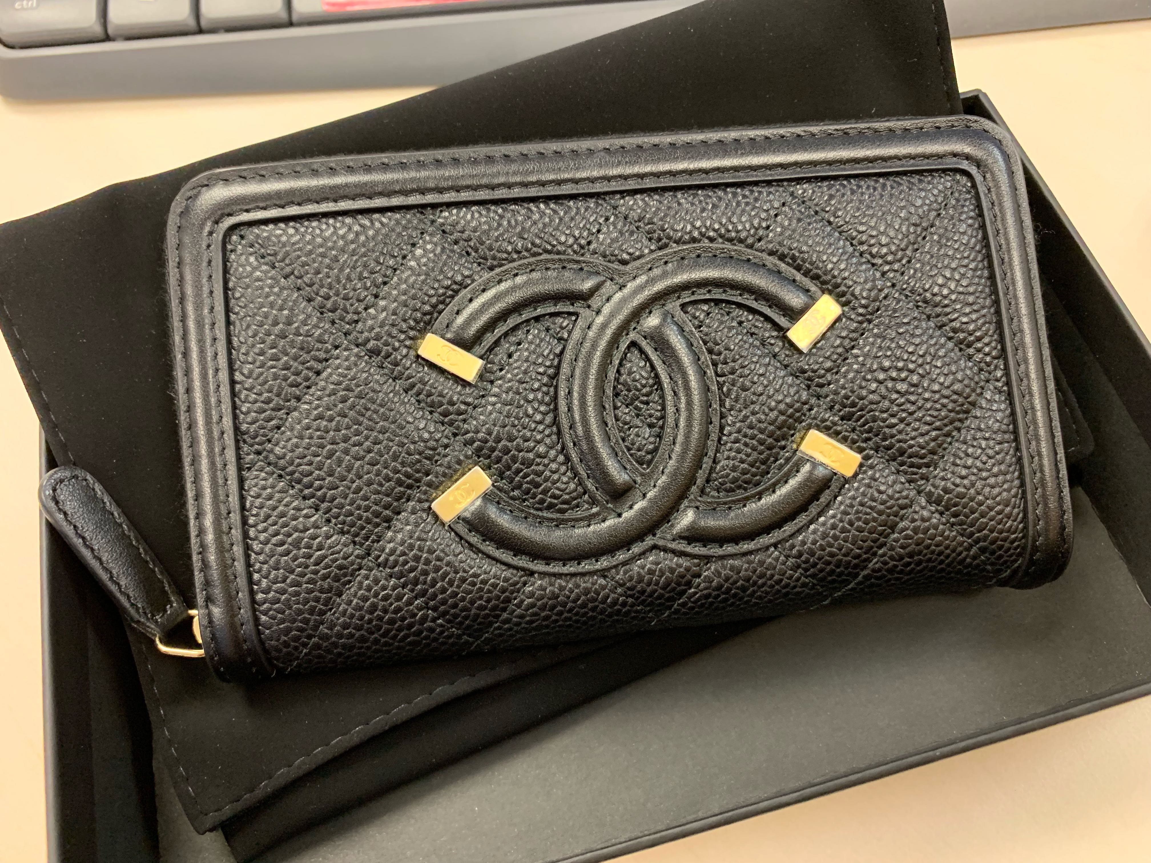 6fa5d609f9a2 [全新] Chanel vanity wallet 銀包, Luxury, Bags & Wallets on Carousell