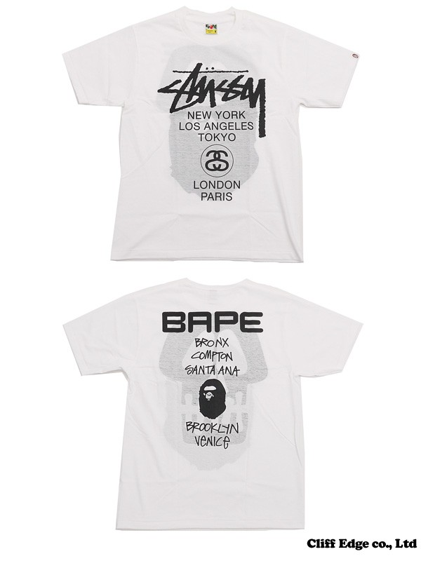 18980e965 A BATHING APE x STUSSY BAPE WORLD TOUR TEE (t-shirts), Men's Fashion ...