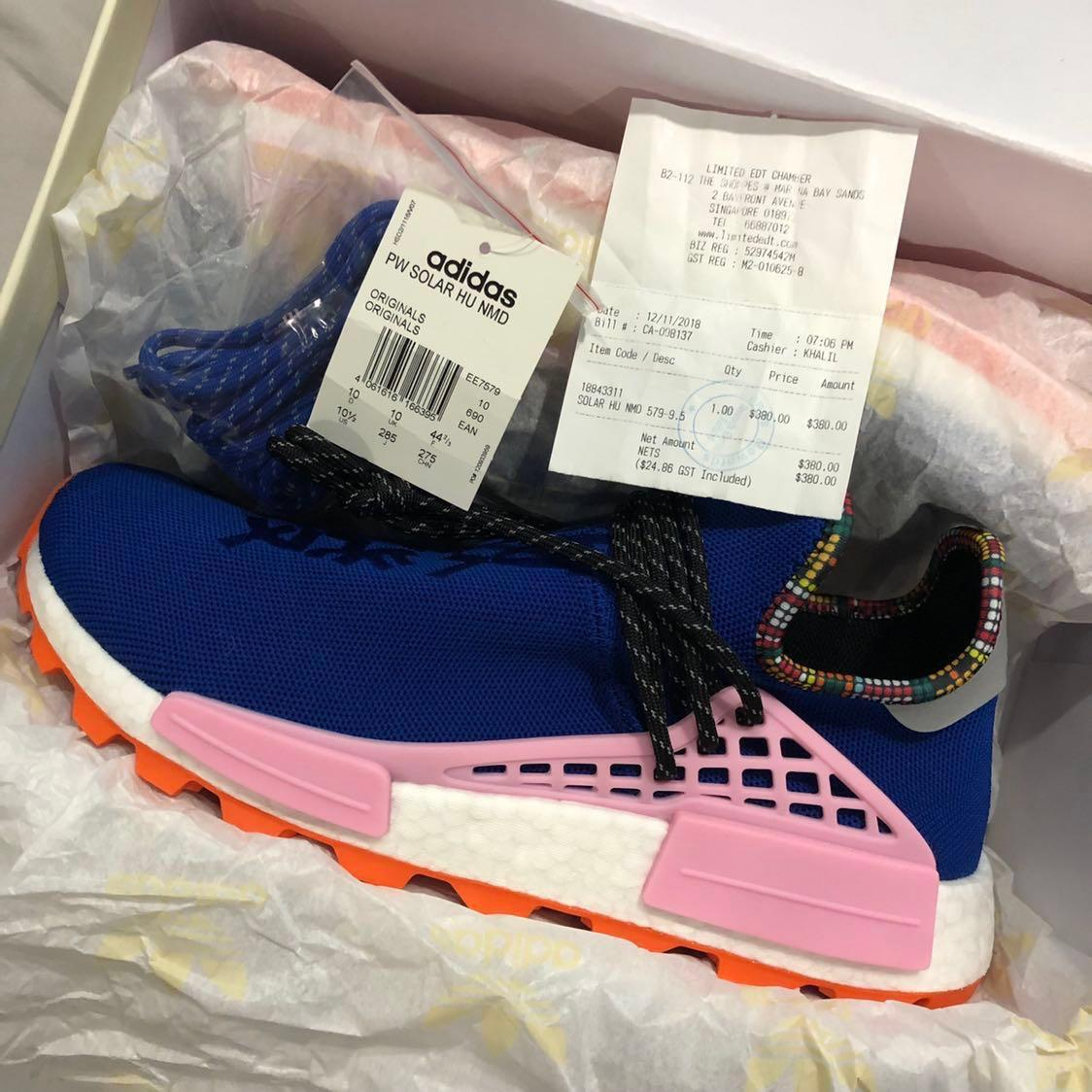 Details about adidas NMD Hu Pharrell Inspiration Pack Powder Blue EE7579 Size 5 12 BRAND NEW