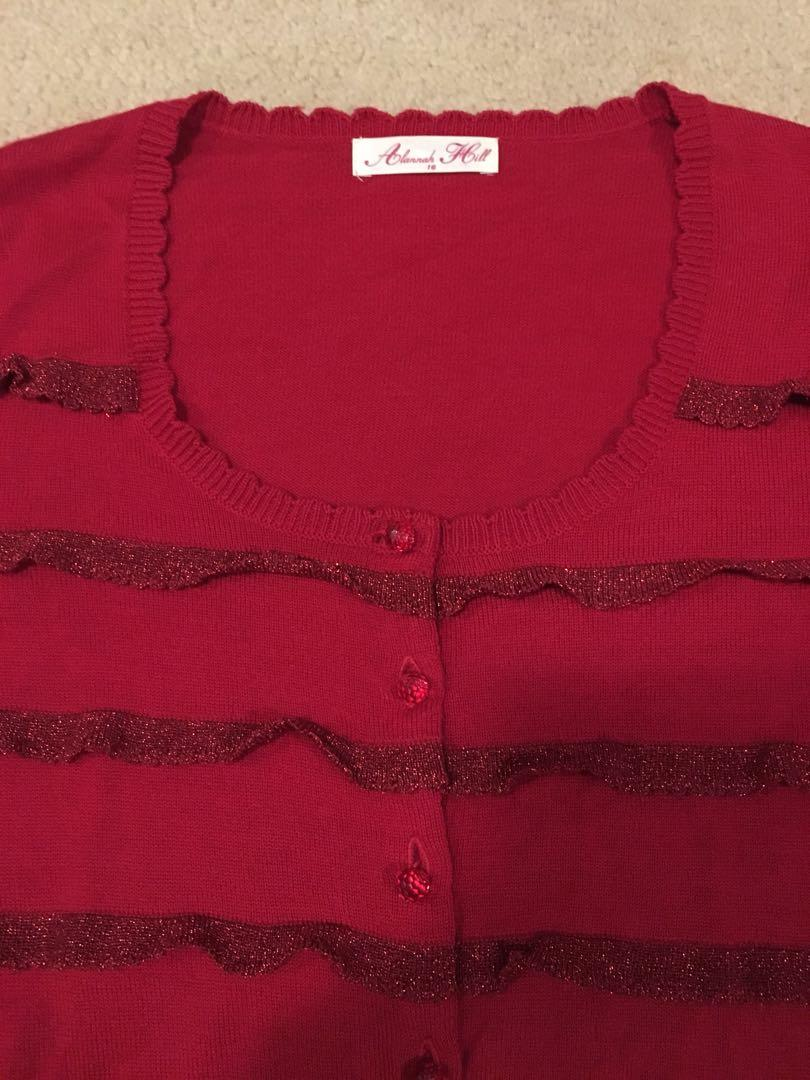 Alannah Hill cardigan red size 16