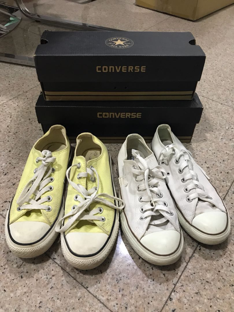 2f29b52a3f92ac ... new zealand all star pale yellow converse sneakers 10 each womens  fashion shoes sneakers on carousell