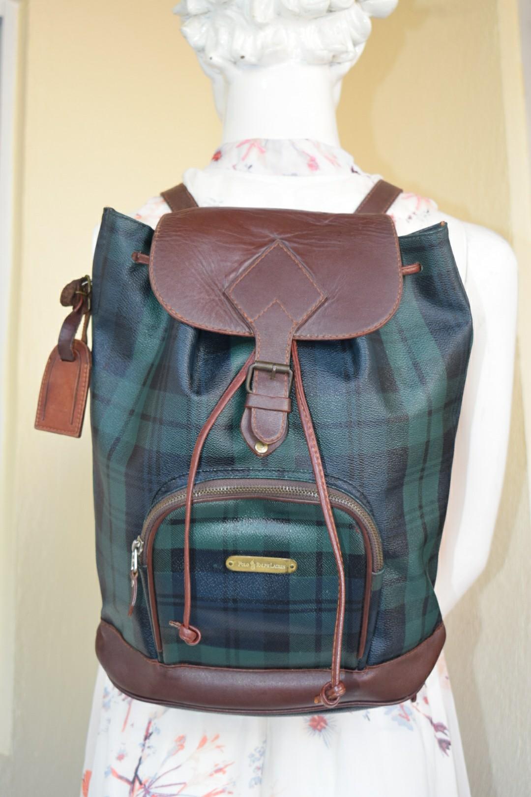 Authentic Vintage 80 s Polo Ralph Lauren Blackwatch Backpack 6a4e97ebe563f