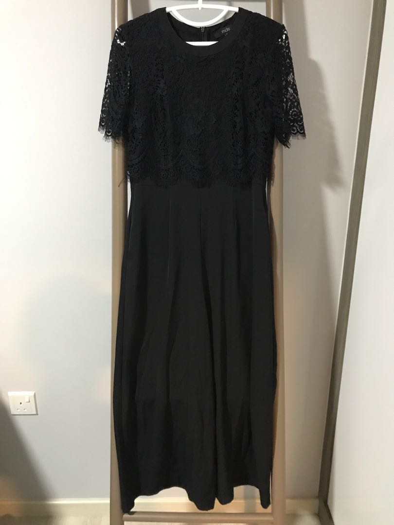 154dffe4a362 Black lace MDS jumpsuit