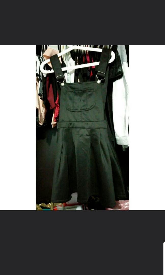 137daada311 Black overall dungaree   skirt