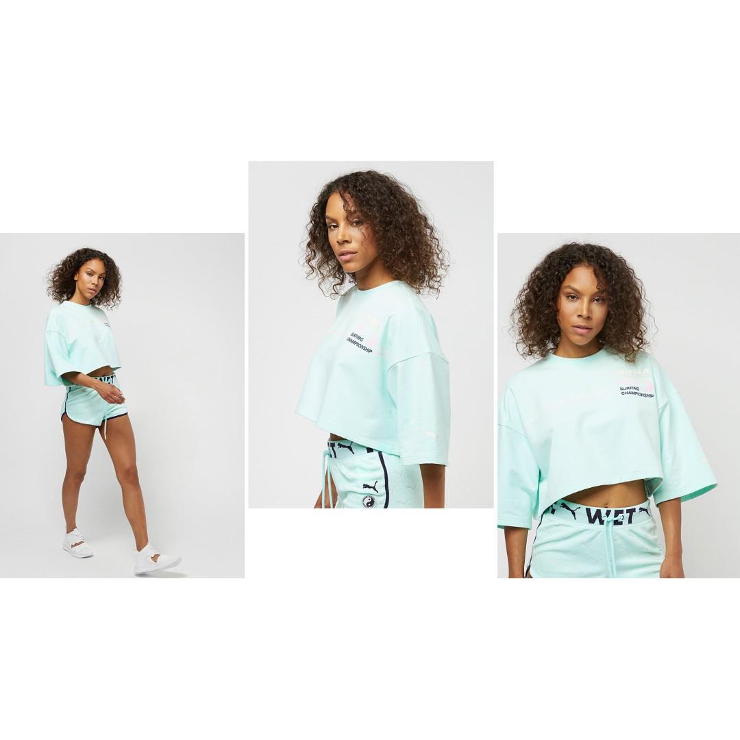quality design 6697b 1f8d7 BNWT FENTY PUMA By Rihanna Bay Green Crop Crew Neck T-Shirt