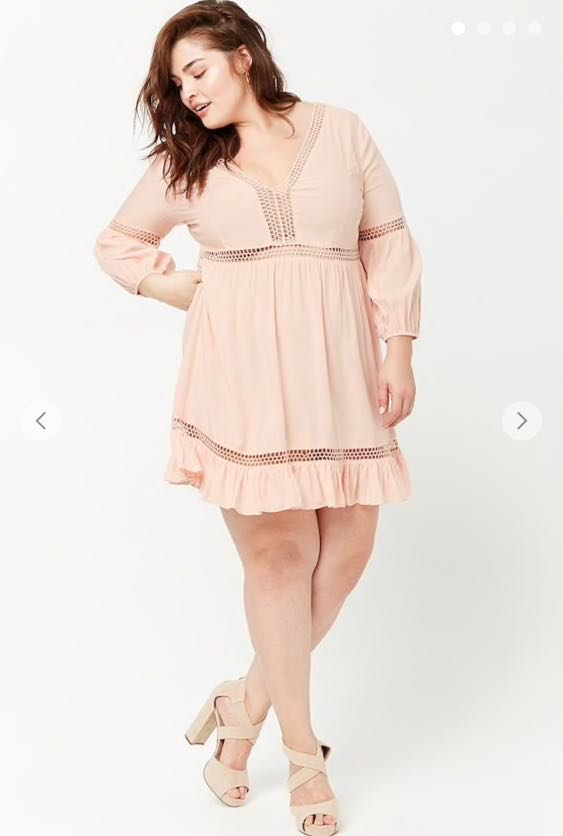 BNWT PLUS SIZE Forever 21 Crochet Lace Peasant Dress PRICE NOT NEGOTIABLE