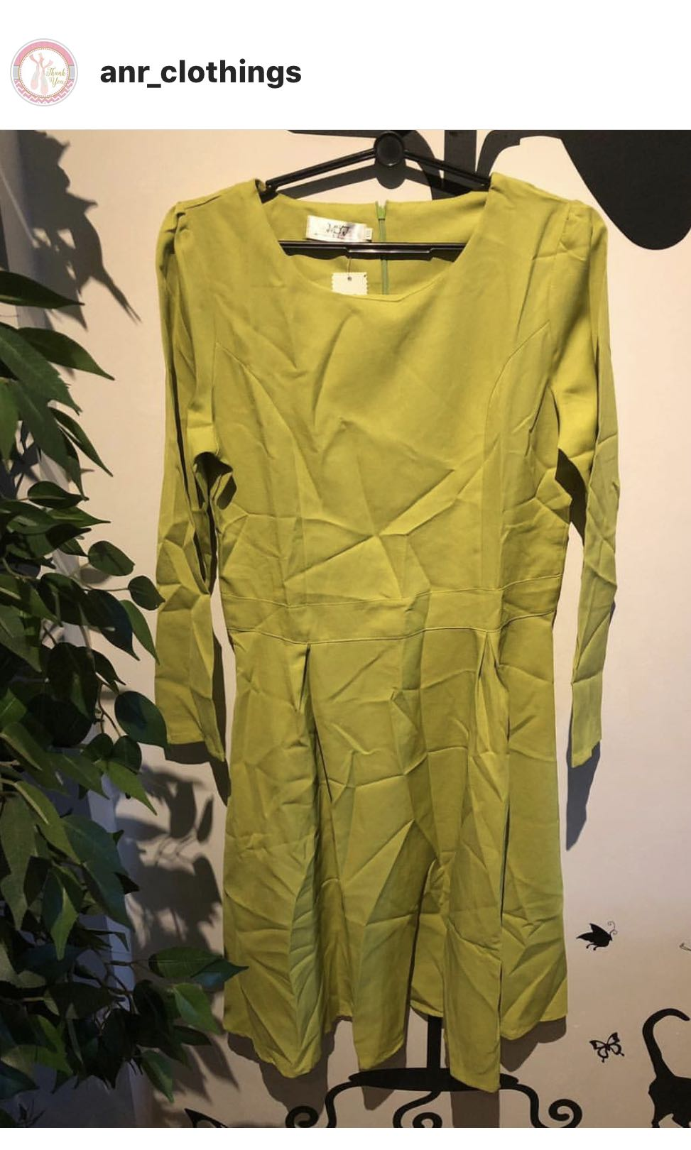 b69156a23a6a Brand New Lime Green Dress, Women's Fashion, Clothes, Dresses ...