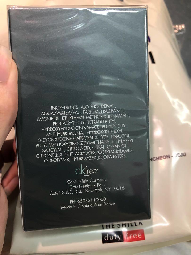 Calvin Klein CK Free EDT (30ML) from Changi Airport, Health