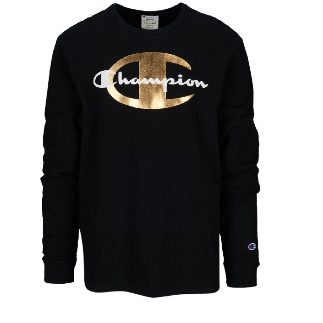 01518162 Champion Timberland Heritage Black/Gold Long Sleeve T-Shirt, Men's ...