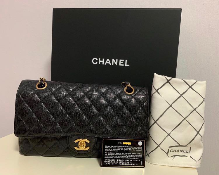 6b7556fb737edd Chanel Classic Double Flap Bag Medium Caiver, Luxury, Bags & Wallets ...