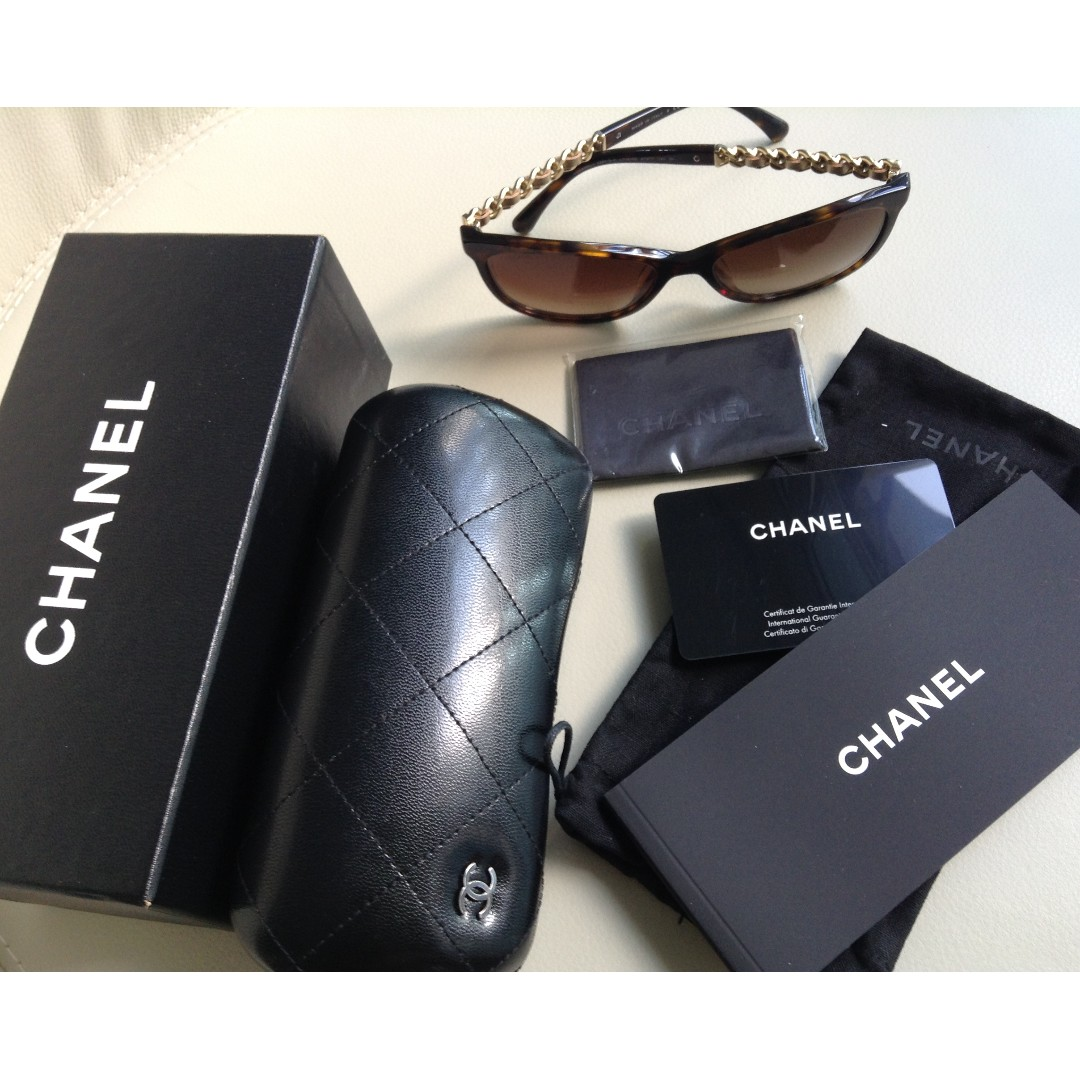Chanel Sunglass in Classic Chain design. BRAND NEW with Authenticity  Certificate, Women s Fashion, Accessories, Eyewear   Sunglasses on Carousell b7e2a75b8408