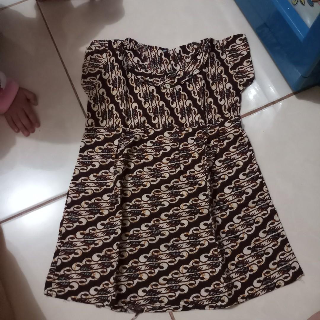 dress batik bayi usia 6-18bulan