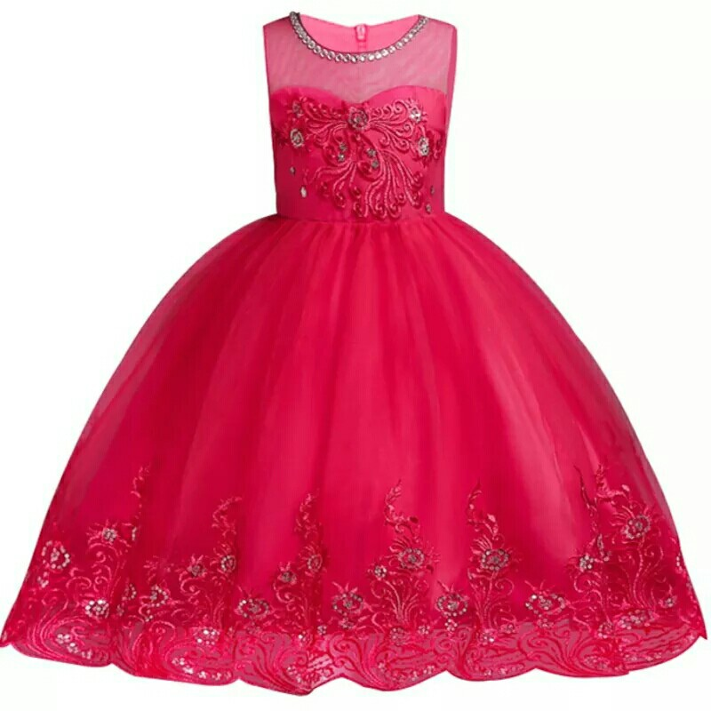 9afbbff68549 Embroidered Formal Princess Dress for Girl Elegant Birthday Party Dress  Girl Dress Baby Girl Christmas Clothes 2-14 Years, Babies & Kids, Girls'  Apparel, ...