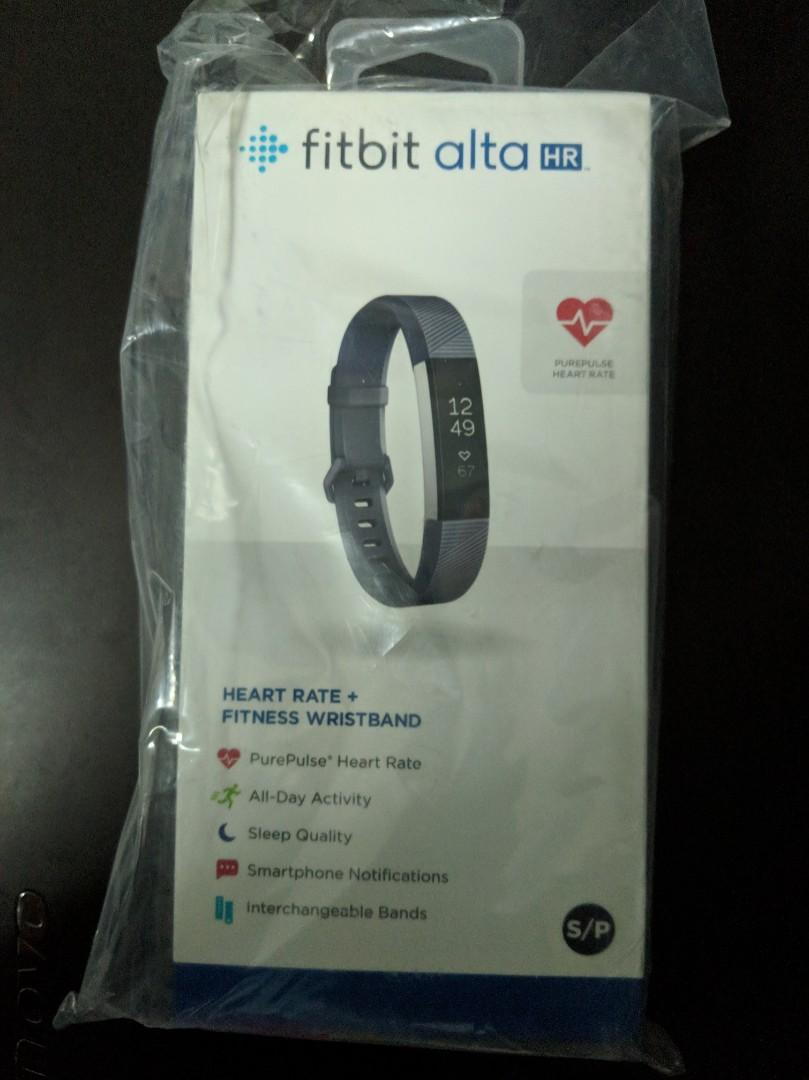 Fitbit Alta HR Fitness And Heart Rate Tracker Blue Gray S Size (New)