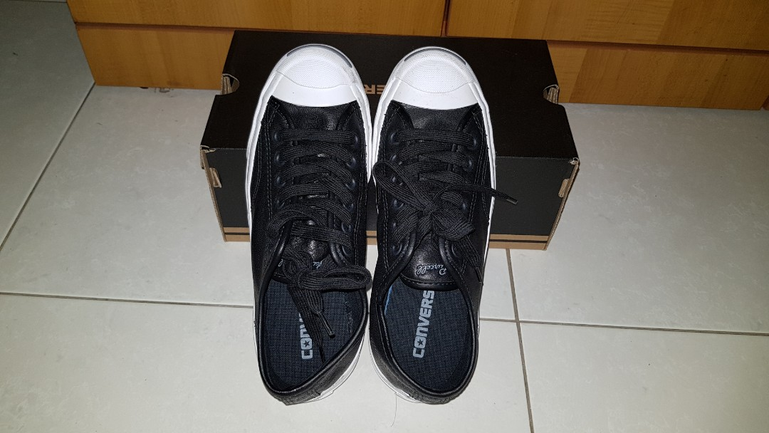 752793fa233c For sale! Converse Jack Purcell leather! (BLACK) Unisex size men s 5 ...