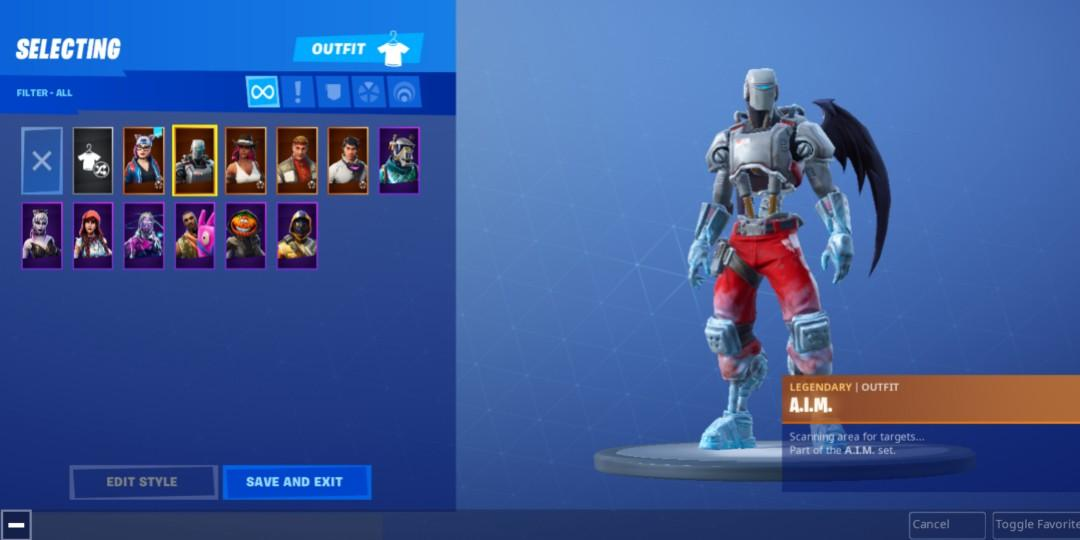 Fortnite acc with season 6 fully upgraded skins and more