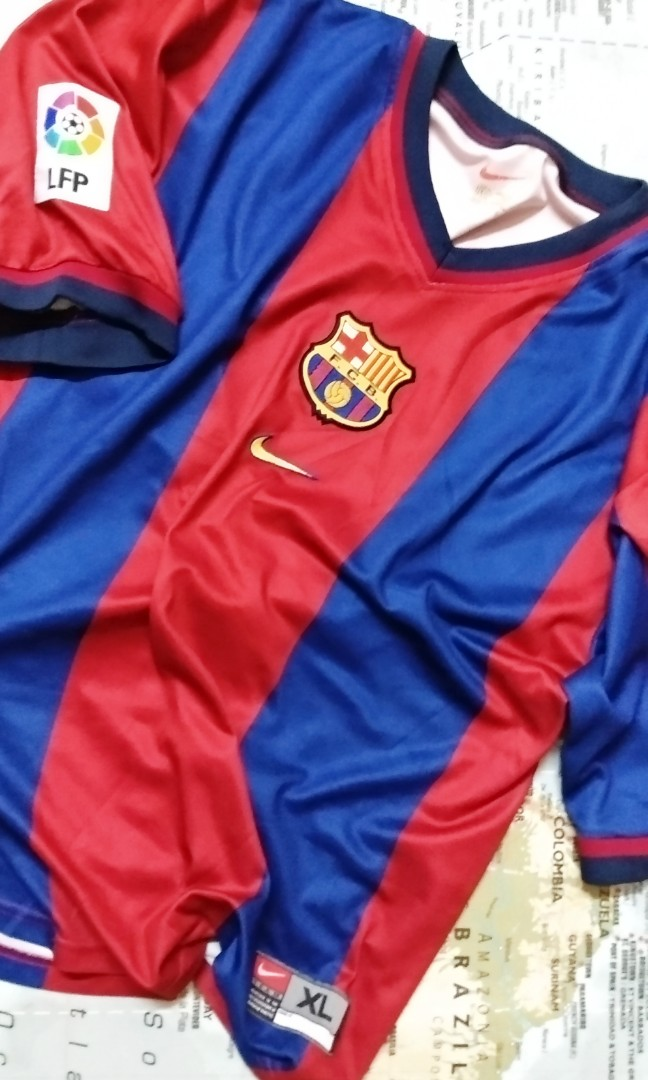 best loved 066c4 090b5 Original Genuine Authentic Barcelona Football Club Home Team Jersey  2000/01' ( Vintage Collection ) Made in Portugal.