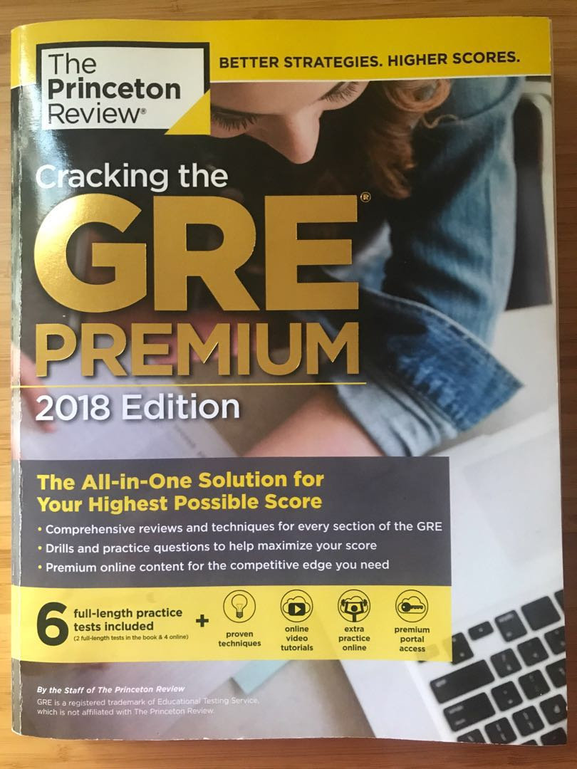GRE Premium 2018 edition (by The Princeton Review), Books