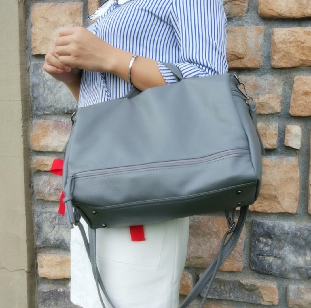 c752de35e0 Grey Blue Handbag Travel Bag Small Duffle Bag Work Bag Office Bag ...