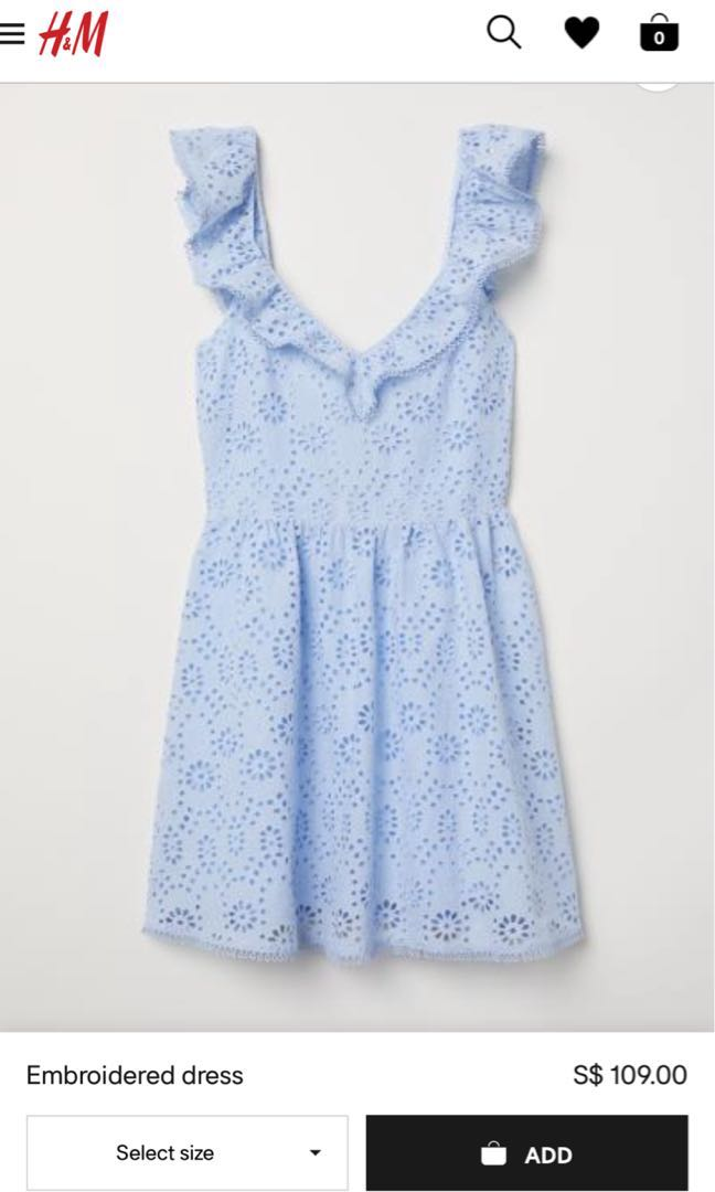 7e670b095a68 H&m embroidered dress, Women's Fashion, Clothes, Dresses & Skirts on ...