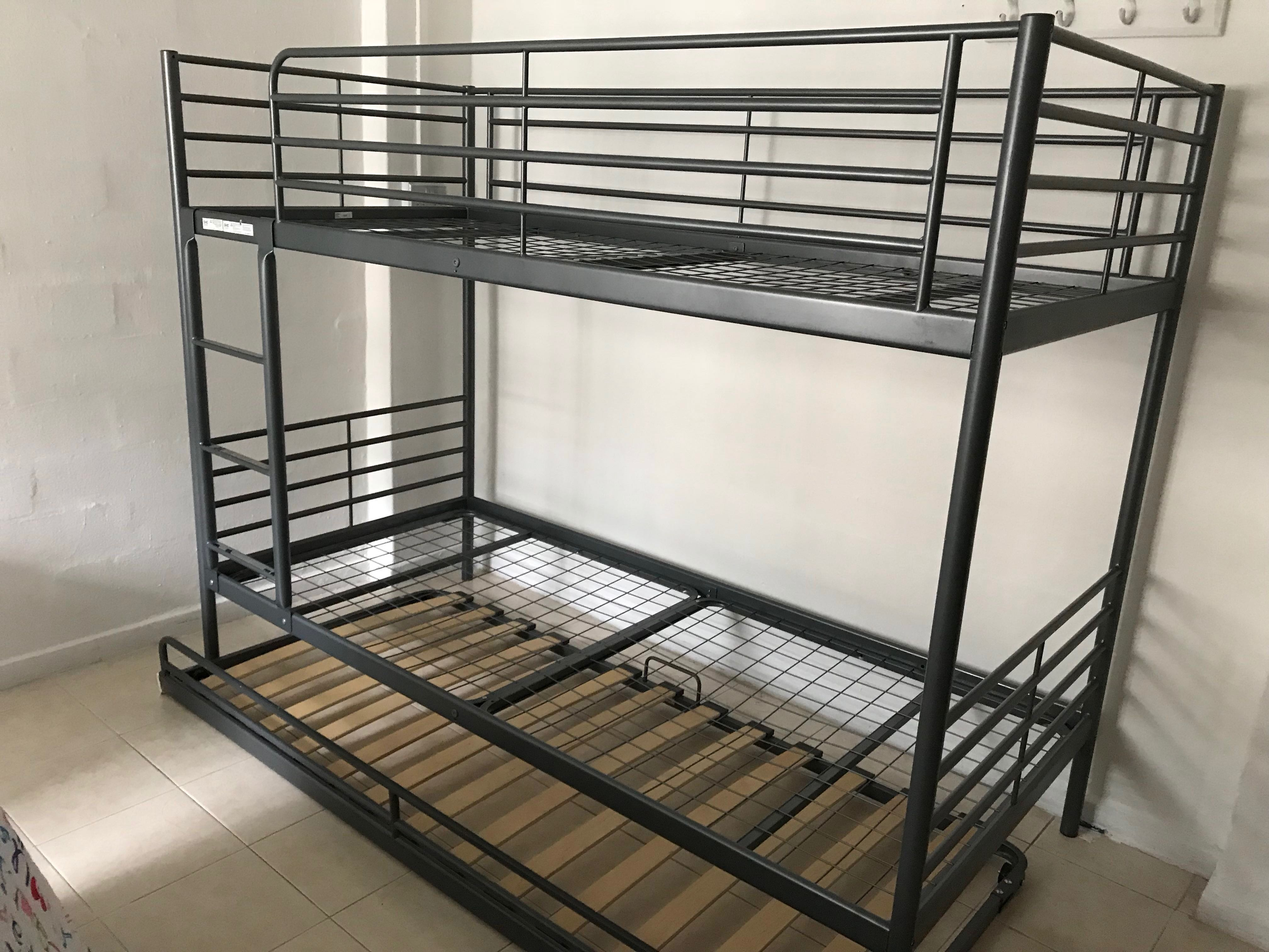 Ikea Svarta Bunk Bed Frame With Underbed Without Mattress