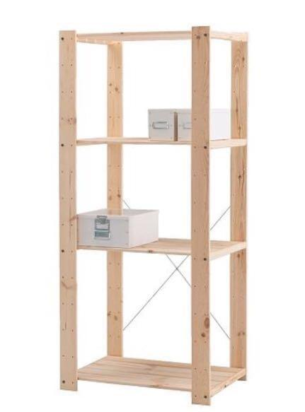 Super Ikea Wooden Shelves Furniture Shelves Drawers On Carousell Home Interior And Landscaping Transignezvosmurscom