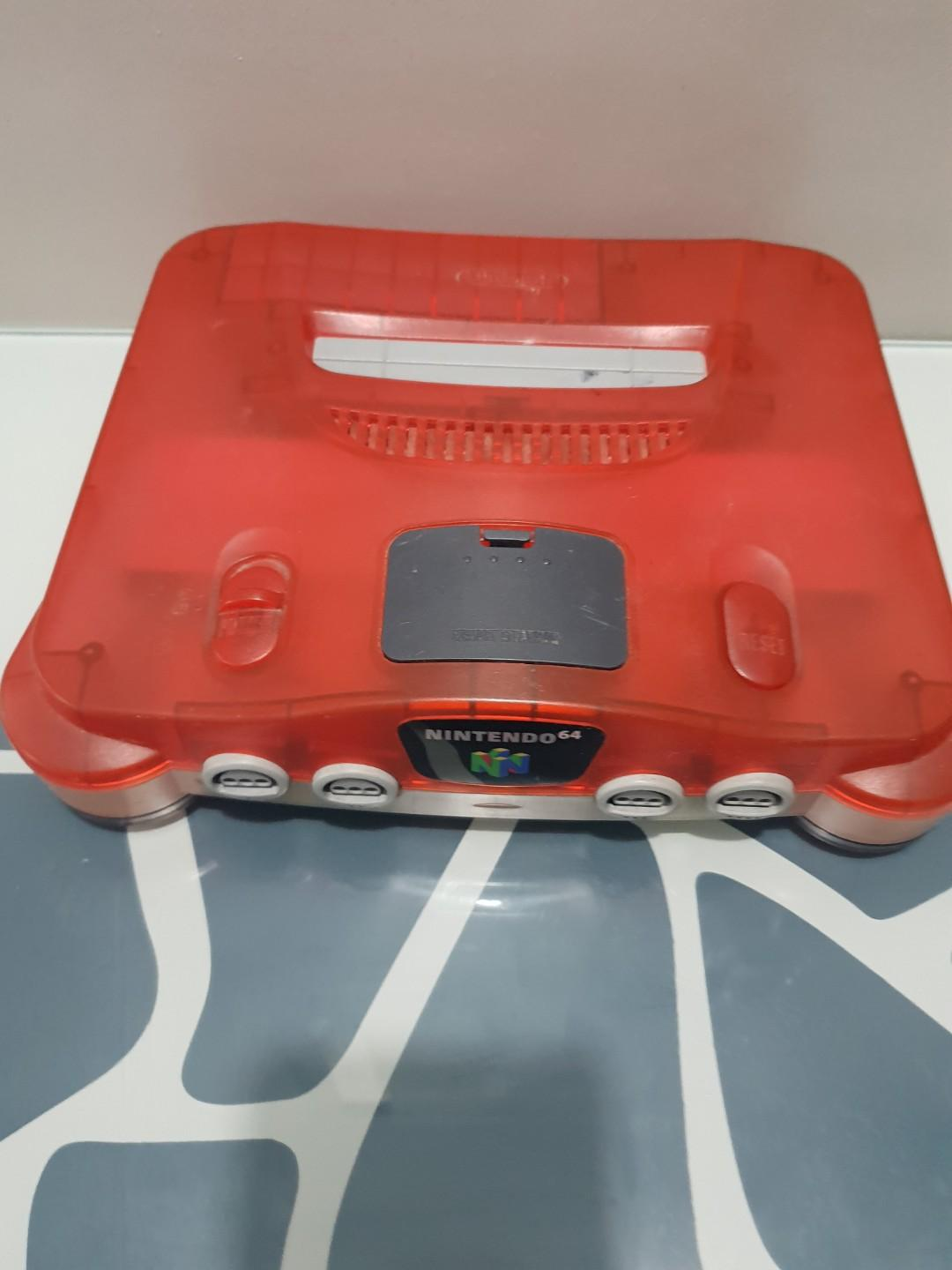 Limited edition red n64 jap with 220v aus adaptet or 110v jap. Red controller av cable