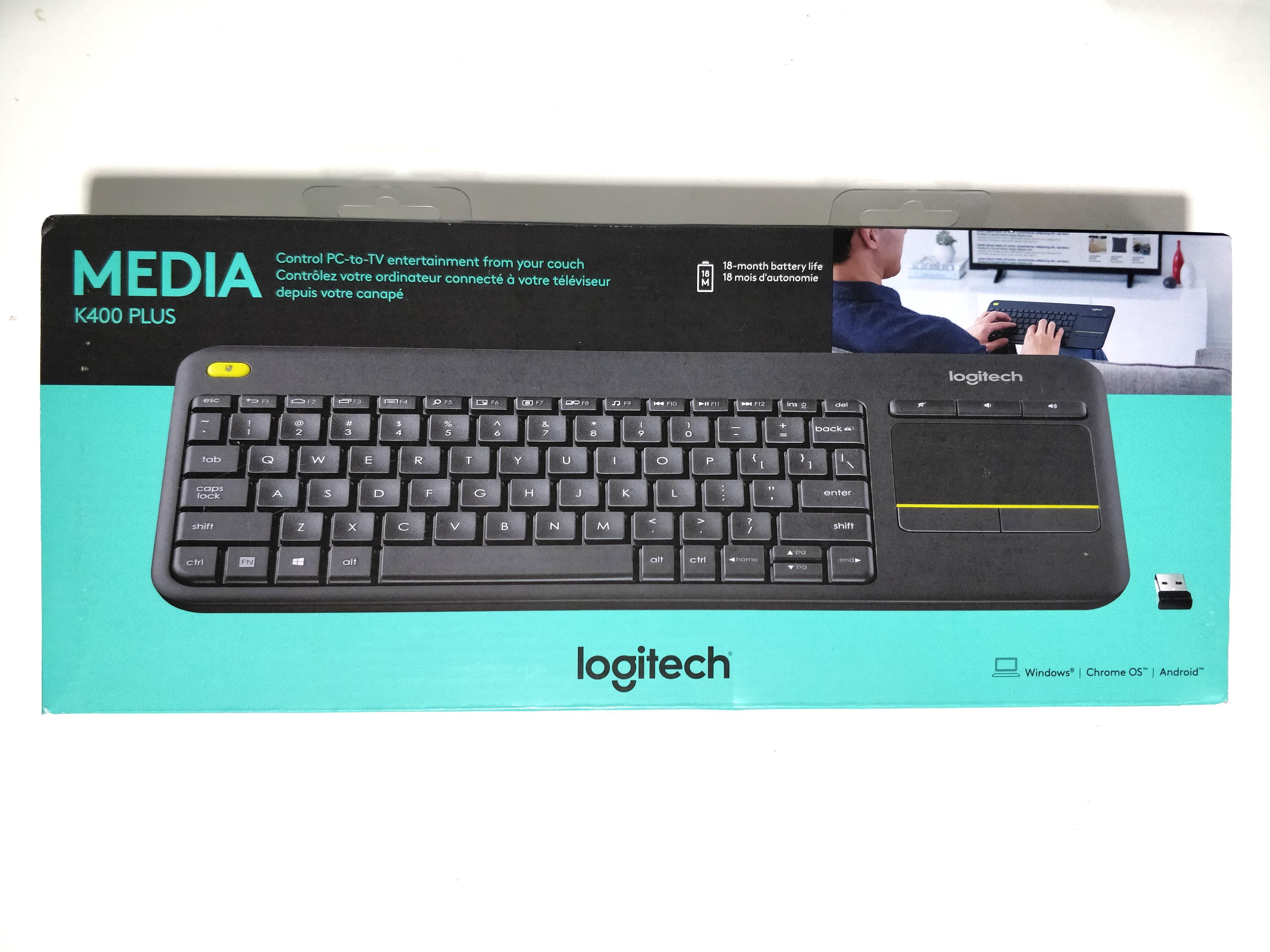 ⌨Logitech Keyboard K400 Plus Wireless USB Keyboard For TV