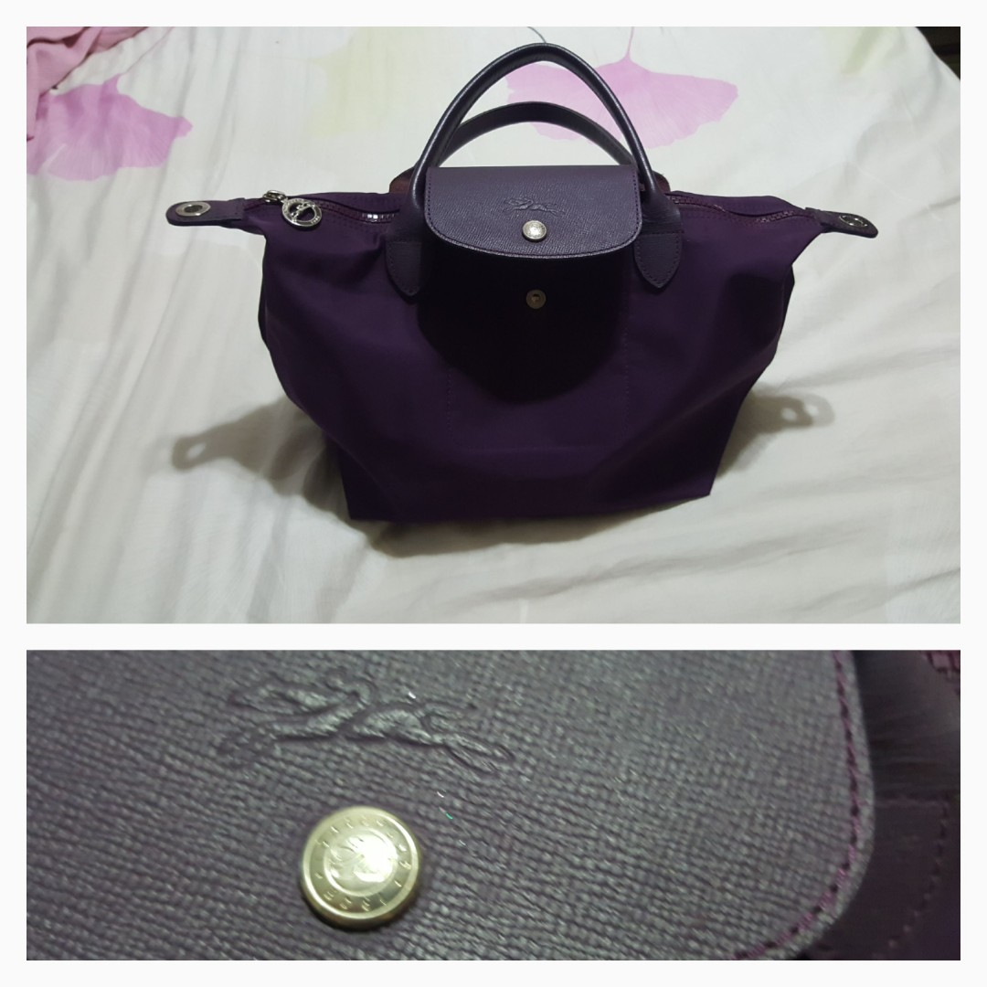 7bcbf96f14427 Longchamp le pliage neo small bag purple color. Used. With ...