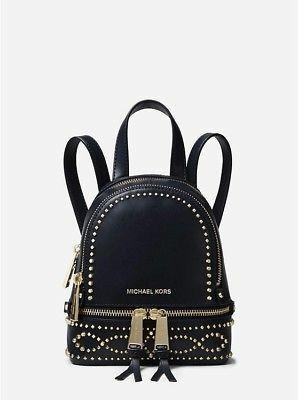 746d28d92a8158 ♥ Michael Kors Rhea Mini Studded Leather Backpack, Women's ...