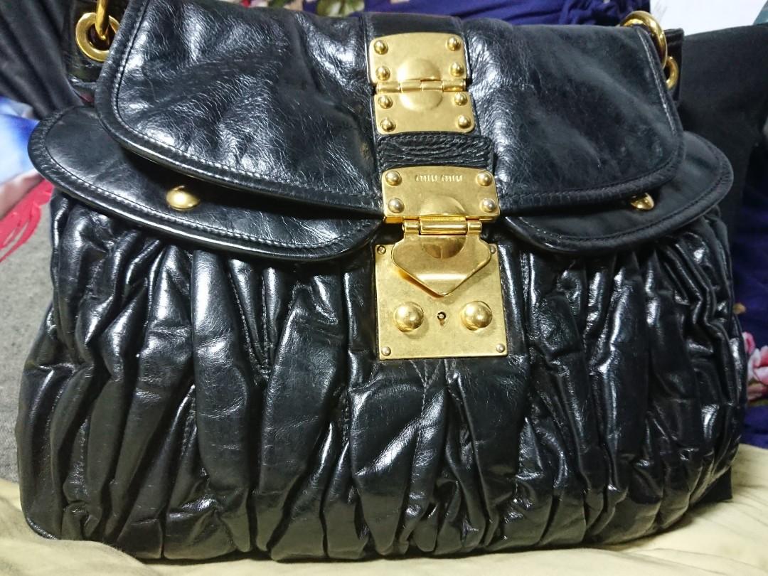 6033af93bec3 Miu Miu Coffer Shoulder Bag