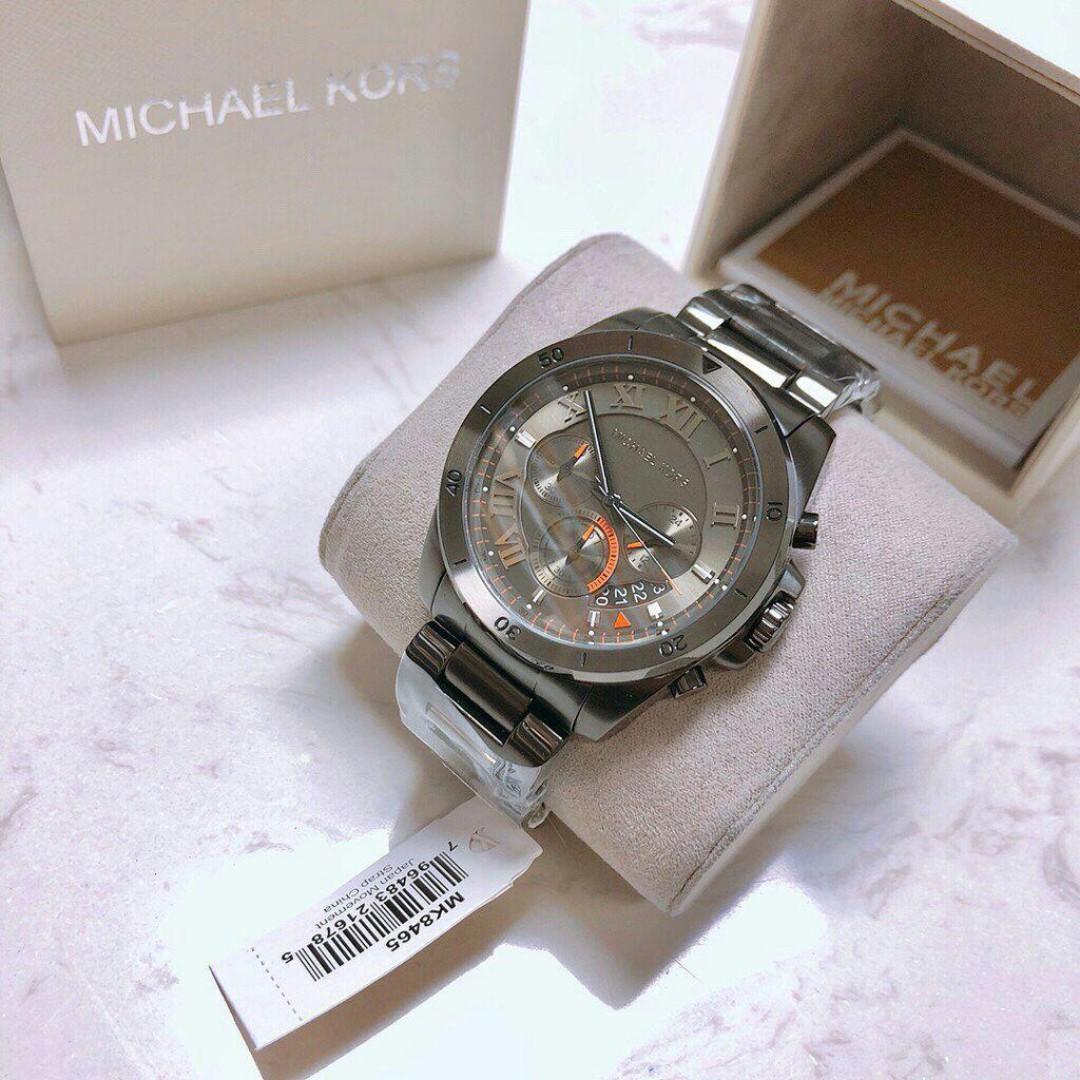 4c2b5c0c13f7 New Original Michael Kors Brecken Chronograph Grey Dial Men s Watch MK8465  (pre-order)