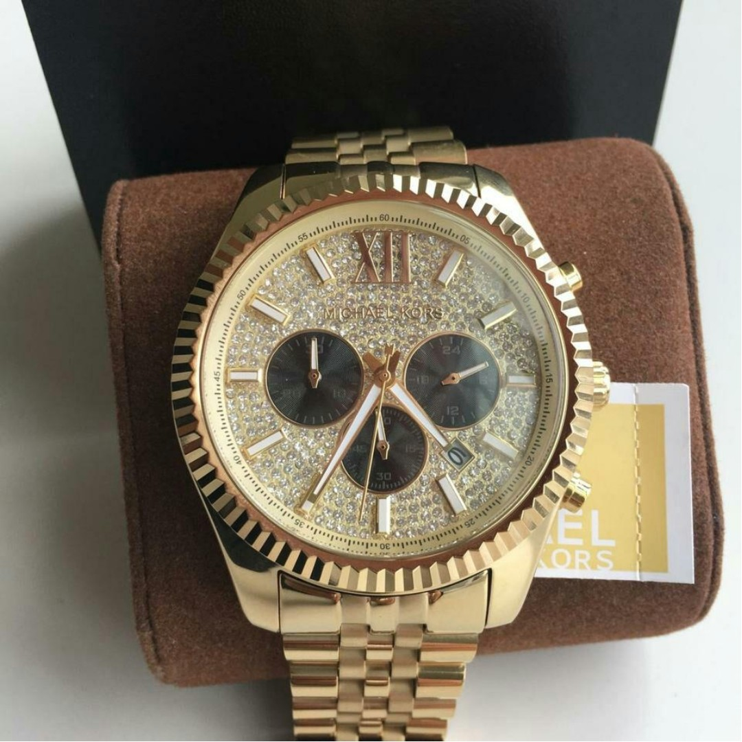 8edeb6b775ea New Original Michael Kors Lexington Gold-tone Men's Watch MK8494  (pre-order), Luxury, Watches on Carousell