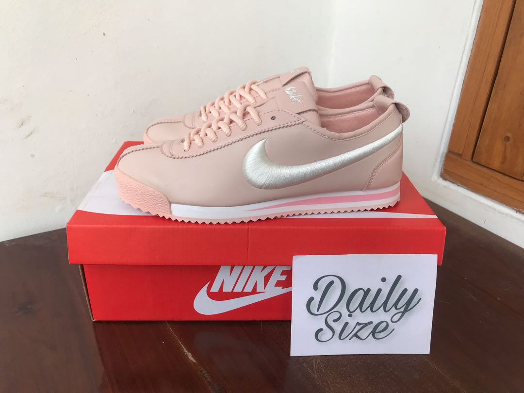 Nike Cortez Leather Si 72 Pink Womens Fashion Shoes On Carousell